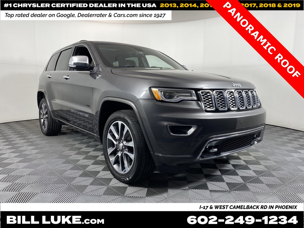 Certified Pre-Owned 2017 Jeep Grand Cherokee Overland